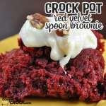 Crock Pot Red Velvet Spoon Brownies