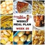 Meal Planning: Weekly Crock Pot Menu 25