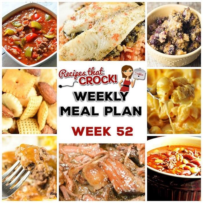 Meal Planning: Weekly Crock Pot Menu 52