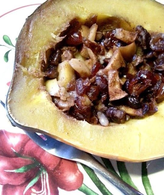 Crock Pot Apple Stuffed Acorn Squash