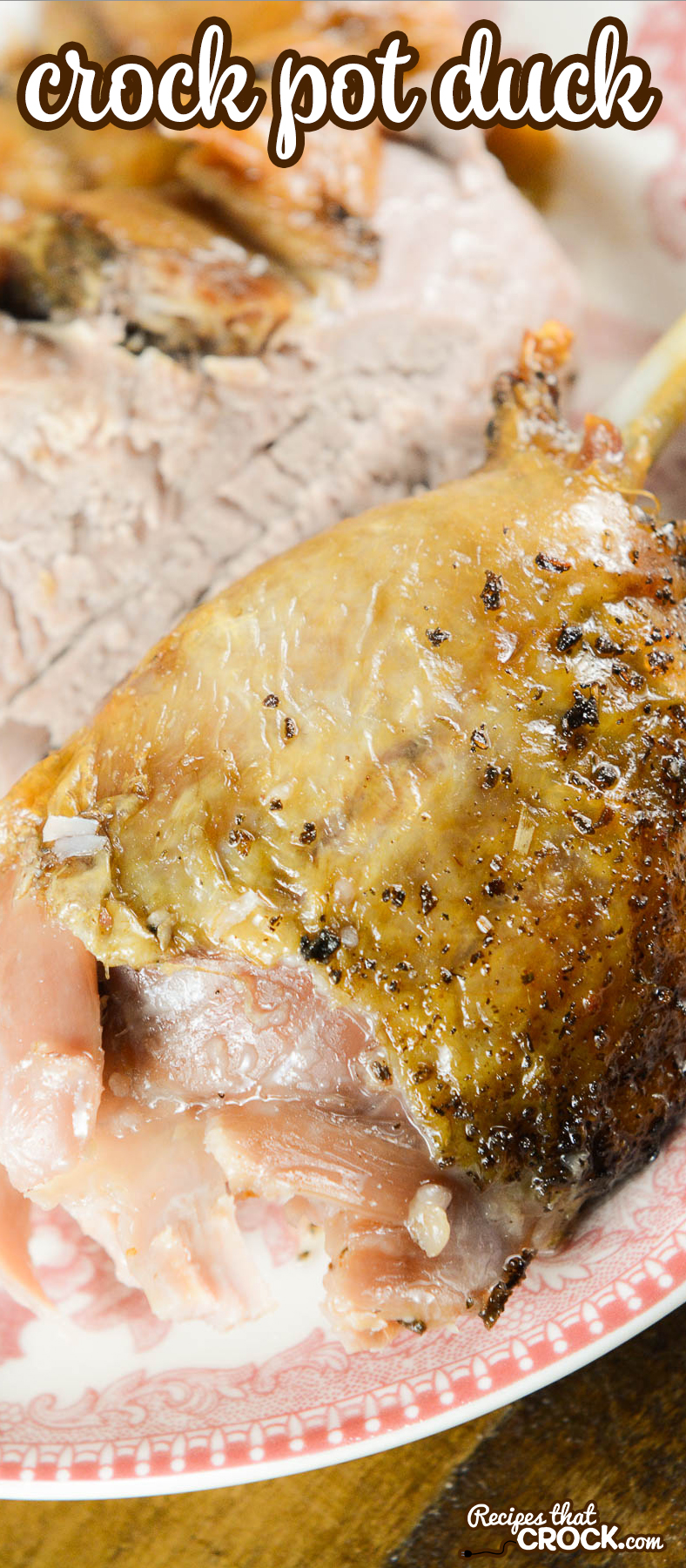 Cooking a whole duck is super simple in your slow cooker. Our Crock Pot Duck Recipe is amazingly easy and oh-so delicious!