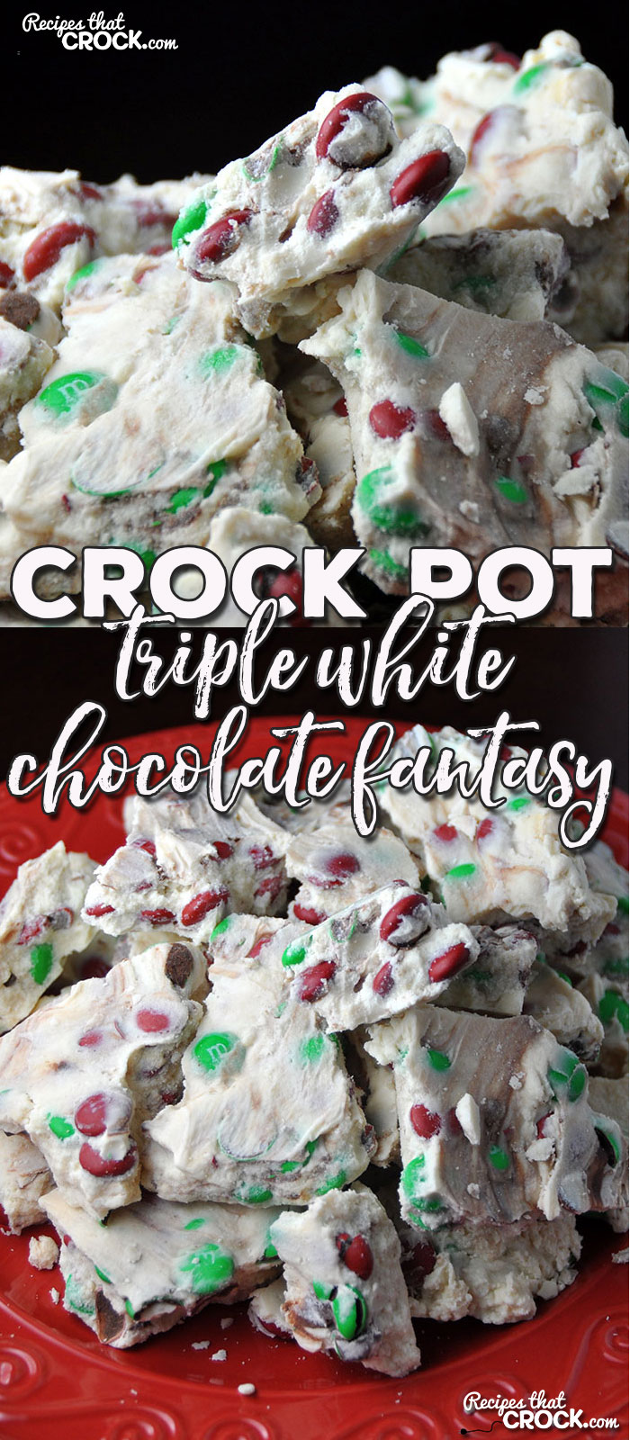 Are you looking for a delicious treat to take to your next party, pitch-in or just to treat yourself? Then you definitely don't want to miss this amazing Crock Pot Triple White Chocolate Fantasy!