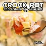 Crock Pot Ham Tomato Egg Casserole