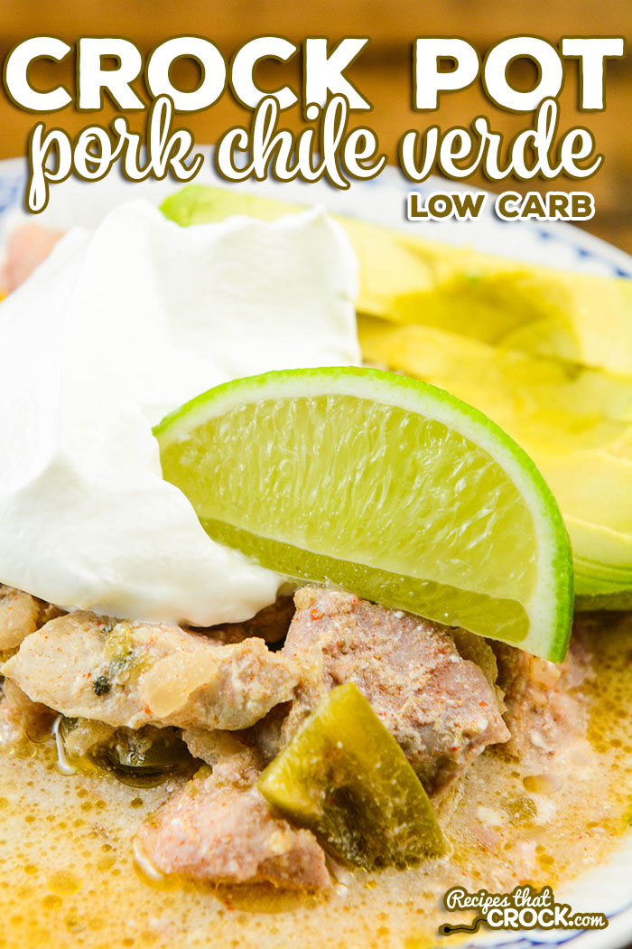 This Crock Pot Chile Verde Recipe has become a family favorite in our house. This slow cooker recipe can be served up as a stew or spooned into tortillas for a delicious spin on taco night.