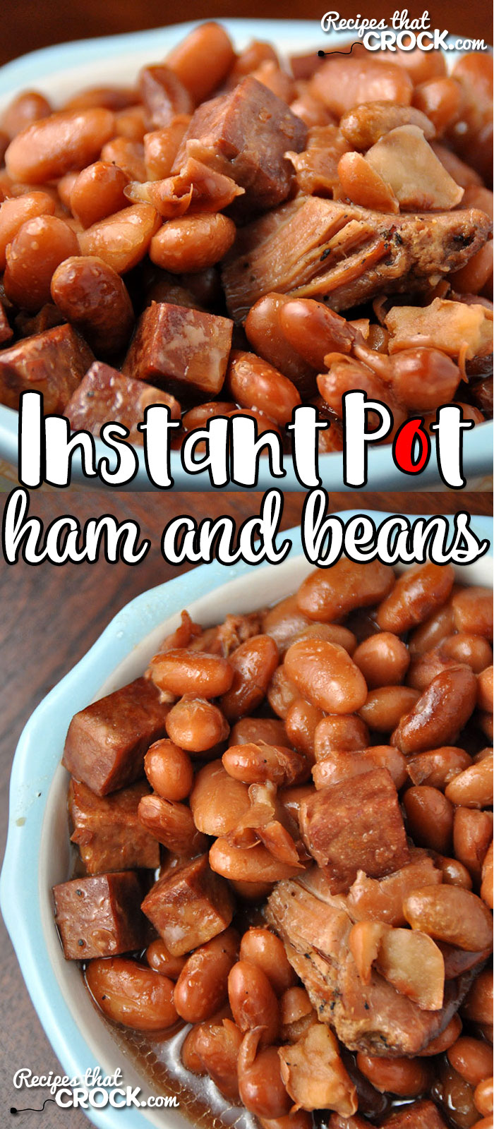 Do you love ham and beans, but don't have all day to cook them? Then you are going to love this Instant Pot Ham and Beans recipe! Simple and flavorful! No soaking required!