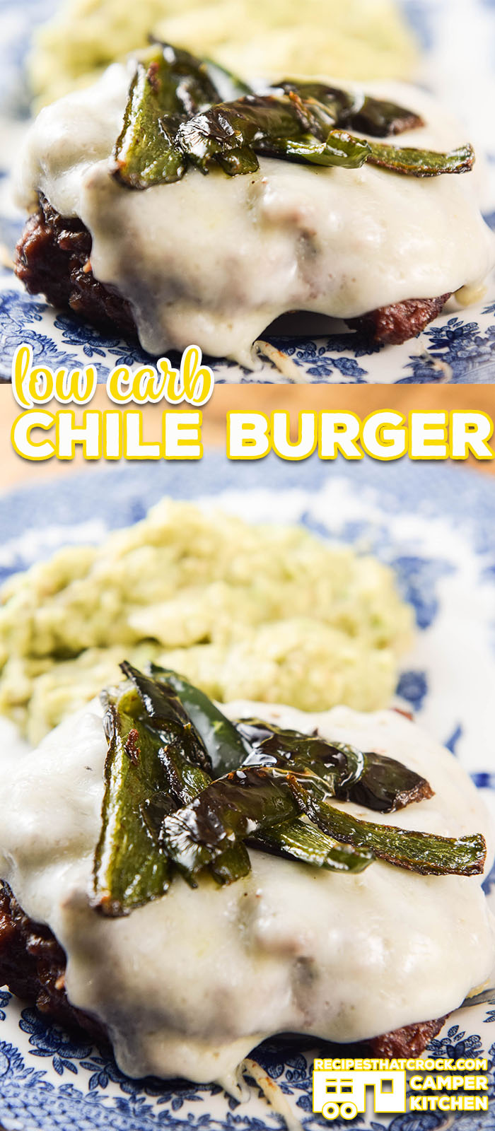 Are you looking for a low carb meal idea that your whole family will enjoy? Our Low Carb Chile Burgers are a favorite in our Camper Kitchen! Serve it up with a side our guacamole for a delicious meal or with a bun for your carb loving friends!