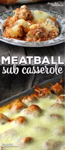 A while back, I made this delicious Crock Pot Meatball Sub Casserole. Then Diane, one of our readers asked how to make it in the oven. So, I couldn't resist and had to make this Meatball Sub Casserole for you guys!
