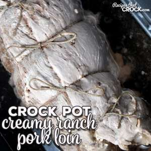 Need an easy recipe to throw together that still looks all fancy? Look no further! This Creamy Ranch Crock Pot Pork Loin is super easy with a little flare!