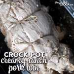 Creamy Ranch Crock Pot Pork Loin