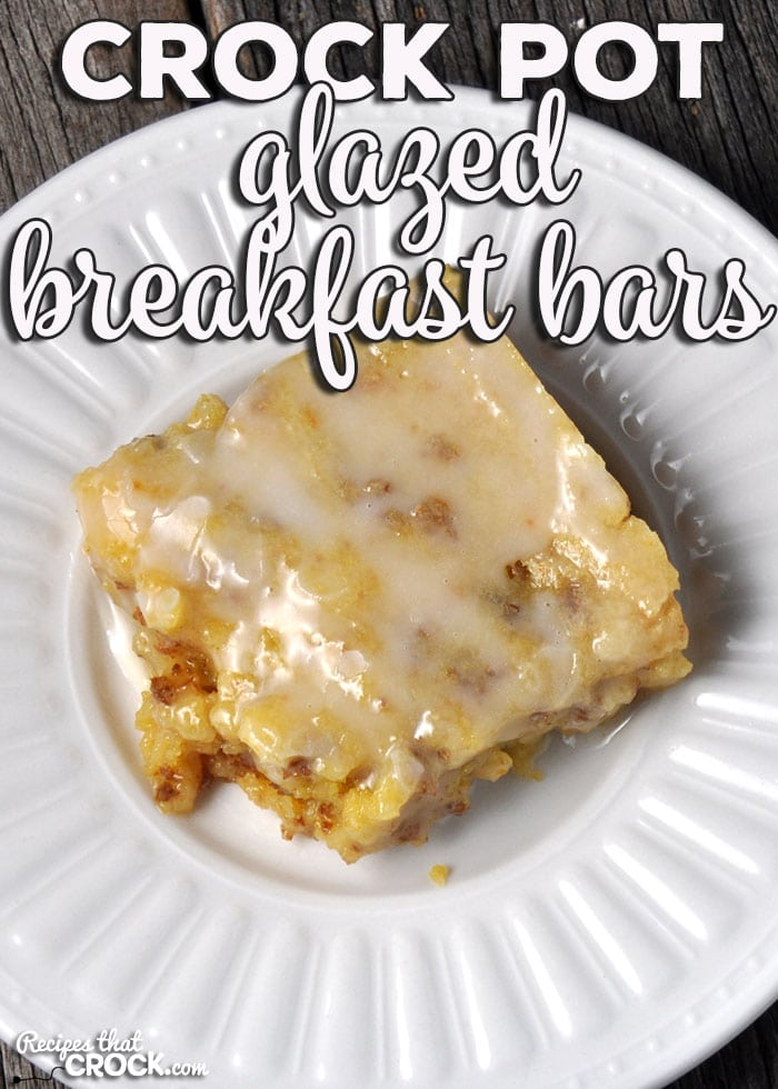 If you are looking for a make-ahead treat that will give you breakfast all week, then you don't want to miss this Crock Pot Glazed Breakfast Bars recipe!