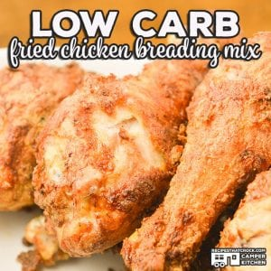 Are you looking for a low carb alternative to coat your chicken for frying? Our Low Carb Fried Chicken Breading Recipe is an easy way to make the breaded foods you love with a lower carb count.