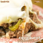 Crock Pot Philly Cheese Steak Meatloaf (Low Carb)