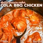 Are you looking for a great electric pressure cooker recipe for your Instant Pot, Crock-Pot Express, etc.? Our Electric Pressure Cooker Cola BBQ Chicken is not only a family favorite, it is also low carb!