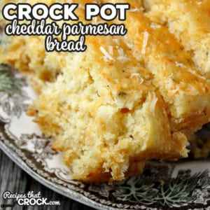 If you love Cheddar Biscuits, like those served at Red Lobster, then you are gonna fall in love with this Crock Pot Cheddar Parmesan Bread instantly!