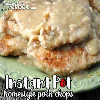 This amazing Instant Pot Homestyle Pork Chops recipe is ready in less than an hour while giving you tender, delicious, juicy chops!