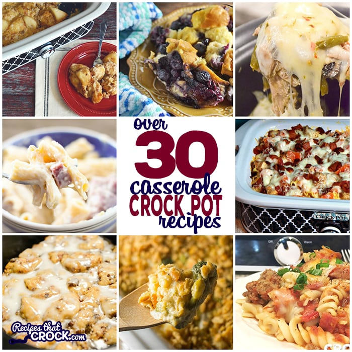 Do you need quick and easy recipes for breakfast or dinner? This collection of Easy Crock Pot Casserole Recipes are great for family meals and holidays. This must have list includesCrock Pot Tater Tot Casserole,Crock Pot Bacon Egg Cheese Casserole, Crock Pot Cowboy Casserole,Crock Pot Chicken Bacon Ranch Pizza Casserole,Crock Pot Broccoli Cheese Casserole and much, much more! This list is full of crock pot recipes for low carb casseroles, breakfast casseroles, dinner casseroles and side dish casseroles.