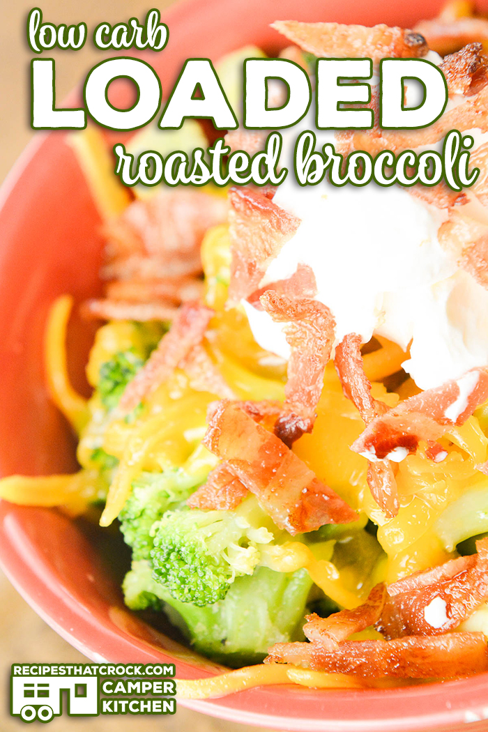 Are you looking for a great low carb side dish recipe? Our Low Carb Loaded Roasted Broccoli is the perfect side dish for family dinner for those on low carb or keto diets (and those who aren't). We love to pair this side with grilled steak or bbq chicken.
