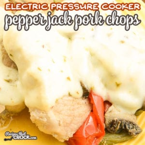 Are you looking for a pork chop recipe for your Ninja Foodi, Instant Pot or Crock Pot Express? Our Electric Pressure Cooker Pepper Jack Pork Chops Recipe is a super easy one pot dinner that everyone loves! We are giving you tips on how to cook the perfect pork chop every time! Tender and juicy, this recipe makes cooking pork chops easy! #Ad #IowaPork @IowaPork