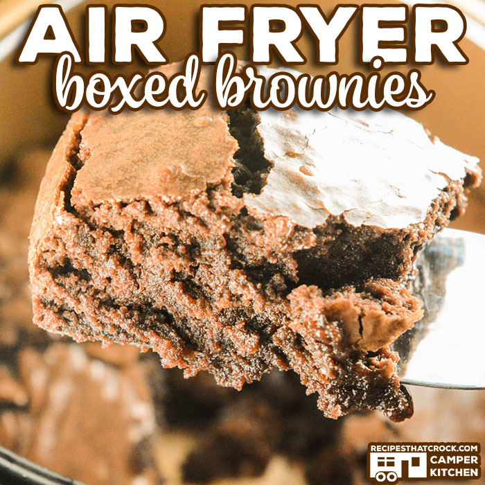 Are you wondering how to make box brownies in an air fryer? Let us show you how to make a boxed brownie mix in a traditional air fryer or ninja foodi using the air crisp feature. We love these Air Fryer Boxed Brownies