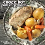 This delicious Crock Pot Pork Chop Dinner is simple to prepare, delicious and a great way to have dinner done in one-pot! What more could you ask for?!