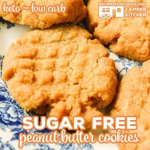 Are you looking for a tried and true Sugar Free Low Carb Peanut Butter Cookies Recipe? We've altered our classic Peanut Butter Cookies to cut the carbs while keeping the flavor. Oven and Air Fryer instructions included.