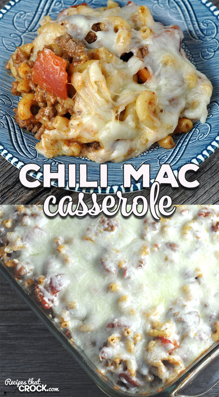 This Chili Mac Casserole is filling, delicious and perfect for a weeknight when you need dinner in a hurry and one everyone will love!