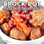 Looking for an easy recipe? This Easy Crock Pot Meatball Bean Stew recipe is incredibly simple, delicious and filling!Everyone will love it!