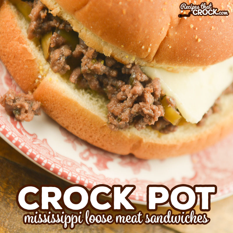 Our Crock Pot Mississippi Loose Meat Sandwiches take the popular Mississippi Beef Roast flavors and turn them into an easy inexpensive sandwich everyone loves. We love the low carb options for this dish as well!