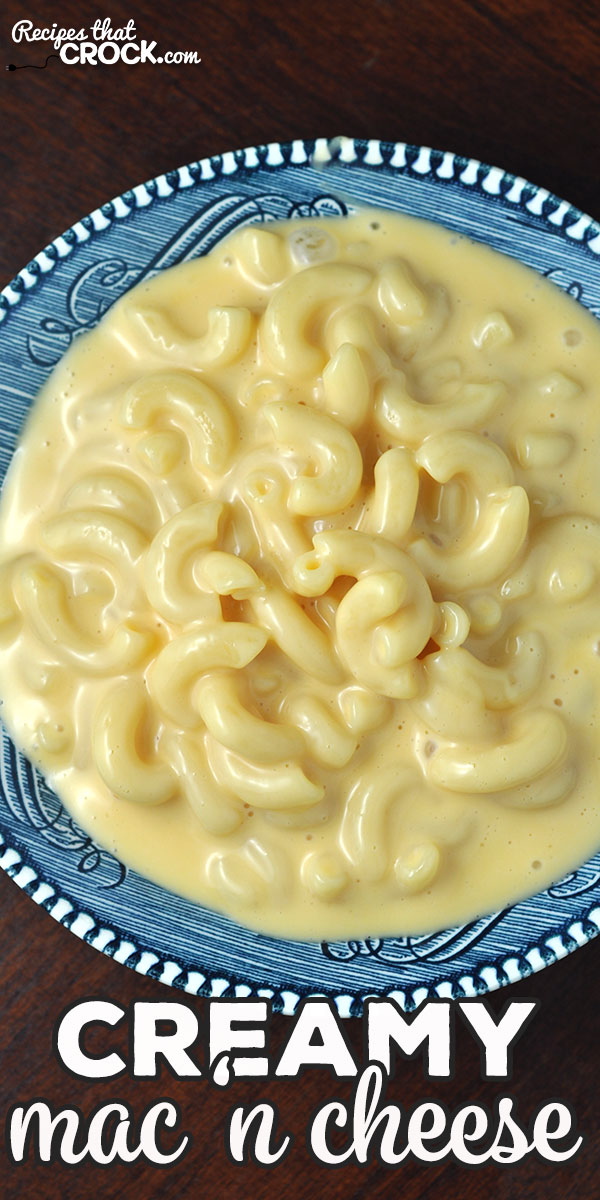 This Creamy Mac 'n Cheese for your stove is creamy, cheesy and so delicious! It is a cinch to make and is a great treat for you and yours! via @recipescrock