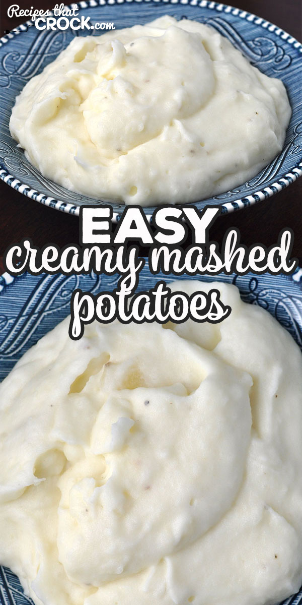 This Easy Creamy Mashed Potatoes recipe is a stove top variation of our beloved Crock Pot No Boil Mashed Potatoes. They are creamy and delicious!