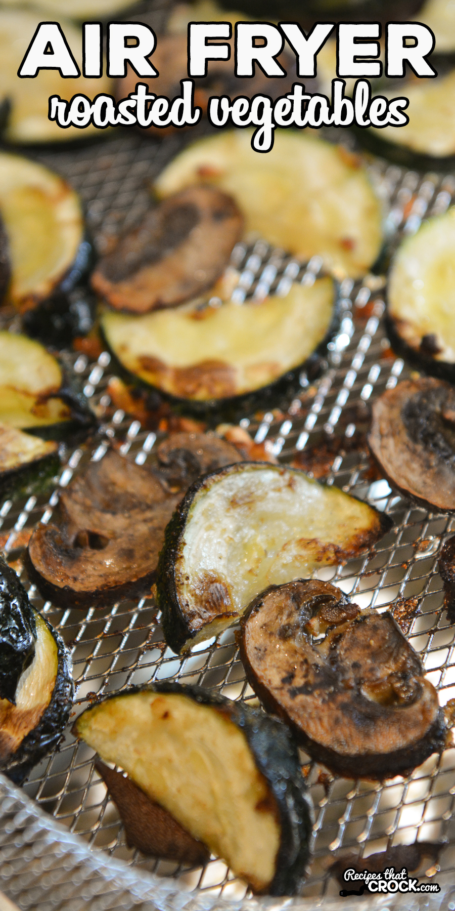 Air Fryer Roasted Vegetables are an easy recipe to toss in your air fryer and enjoy as a savory side dish for just about any meal. We like to make these in our traditional air fryer, Ninja Foodi and Ninja Foodi Air Fry Oven. via @recipescrock