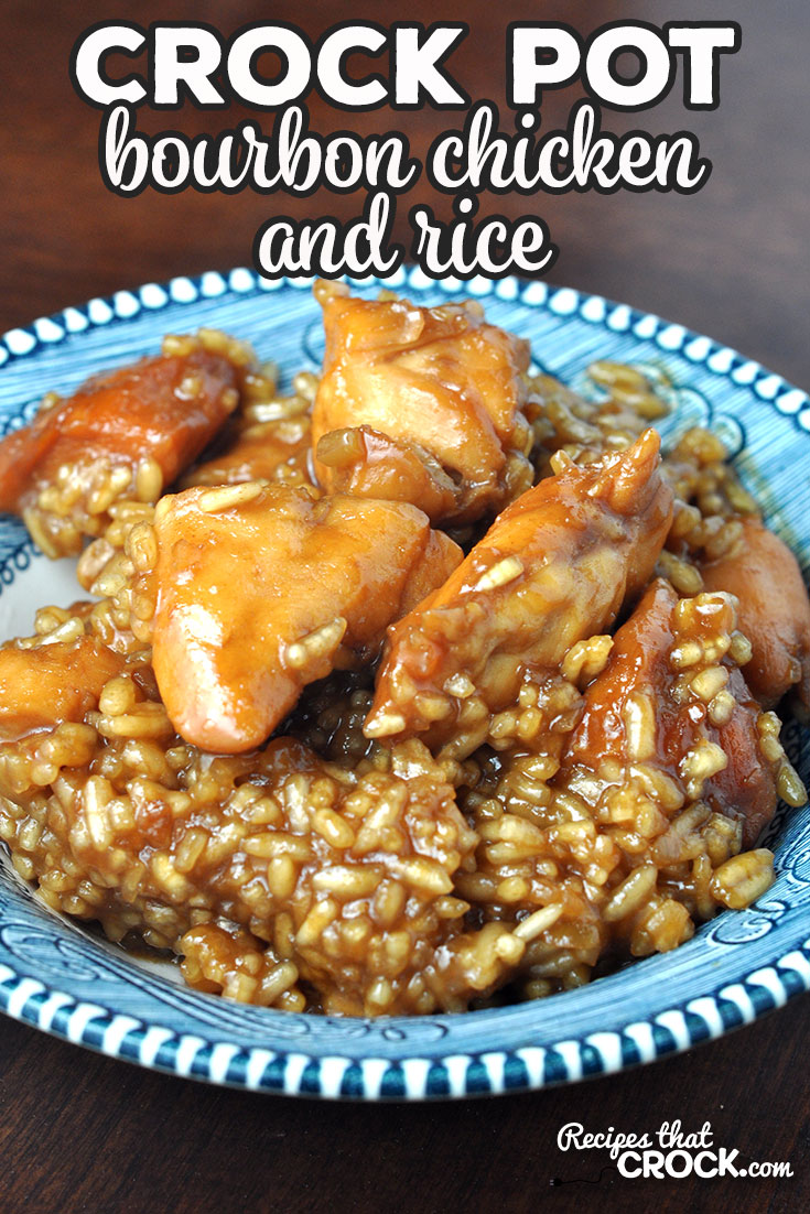 This Crock Pot Bourbon Chicken and Rice recipe is delicious, quick and easy! I took our favorite Crock Pot Bourbon Chicken Recipe and took it up a notch! via @recipescrock