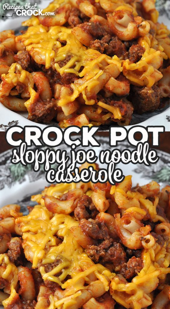 We love this Crock Pot Sloppy Joe Noodle Casserole recipe in my house, and I bet you will too! It is easy to make and so delicious!