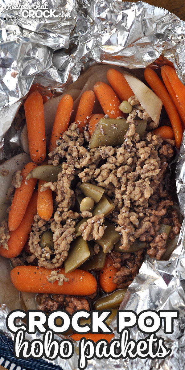 This Crock Pot Hobo Packets recipe will fill you up and give you a delicious veggie packed dinner with very little clean up required! via @recipescrock