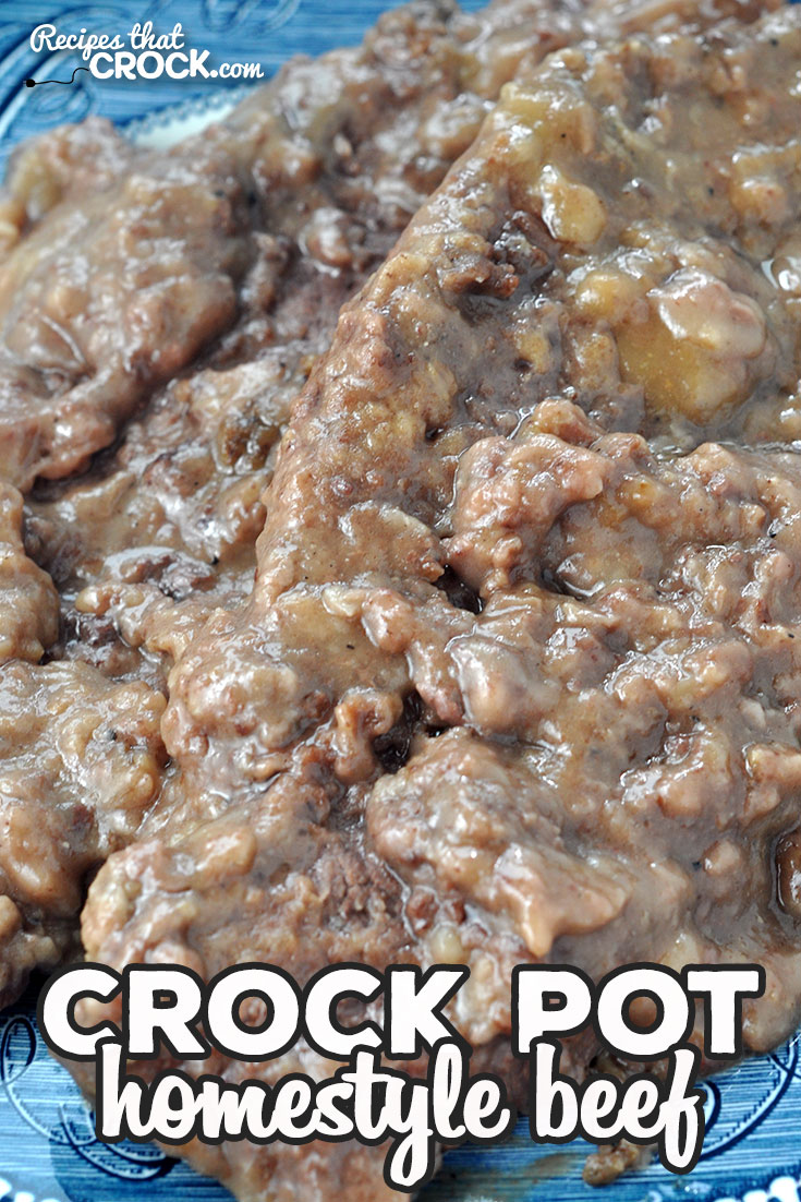 This Crock Pot Homestyle Beef recipe is quick to prepare, easy to make and absolutely delicious! I bet this will be one of your new go-to recipes! via @recipescrock