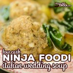 Our Low Carb Ninja Foodi Italian Wedding Soup is a quick an easy recipe you can make in one pot! We love these tender air crisp low carb meatballs in a savory soup with vegetables. No Foodi? Make with Oven/Air Fryer and your Instant Pot.