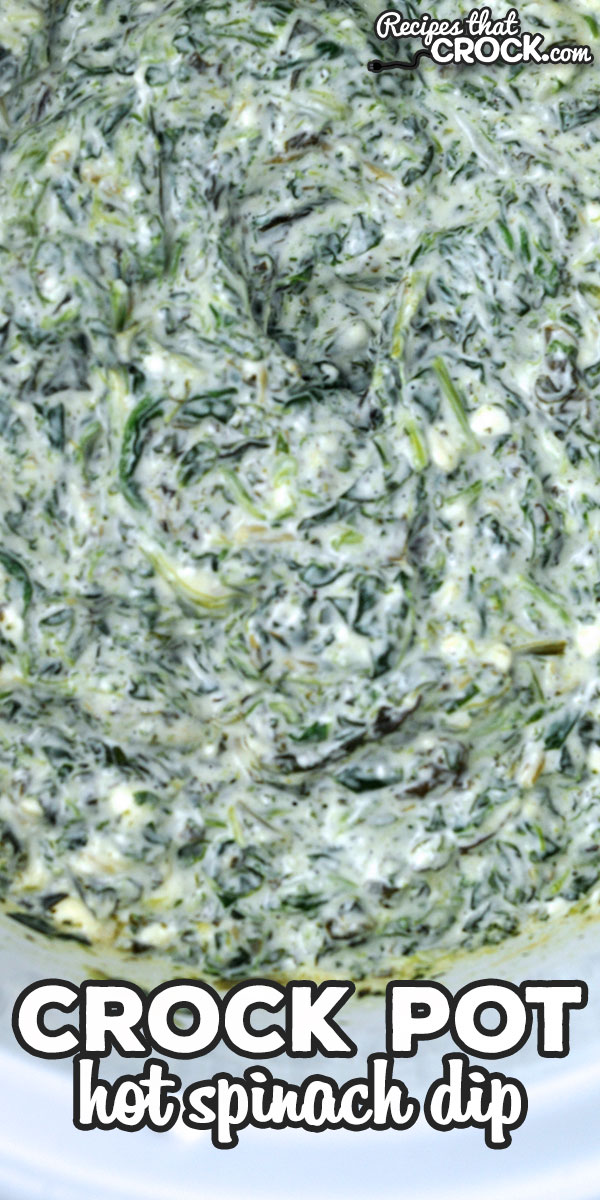 If you are looking for a delicious dip to serve at a get together or just to have as a treat at your house, you do not want to miss this Hot Crock Pot Spinach Dip! It is easy to make and delicious! via @recipescrock