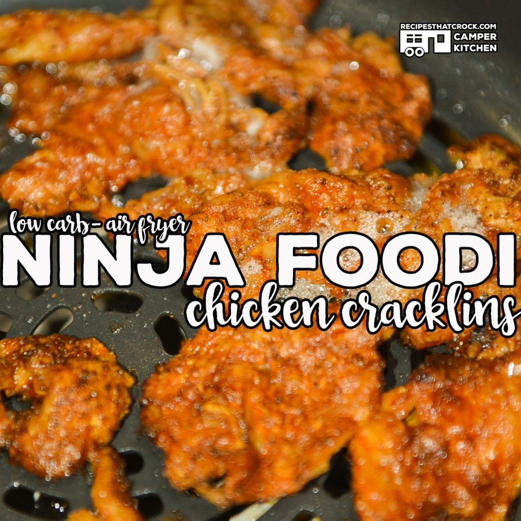 Ninja Foodi Air Fryer Chicken Cracklins are the perfect low carb snack! This simple recipe produces crispy flavorful cracklins every time!