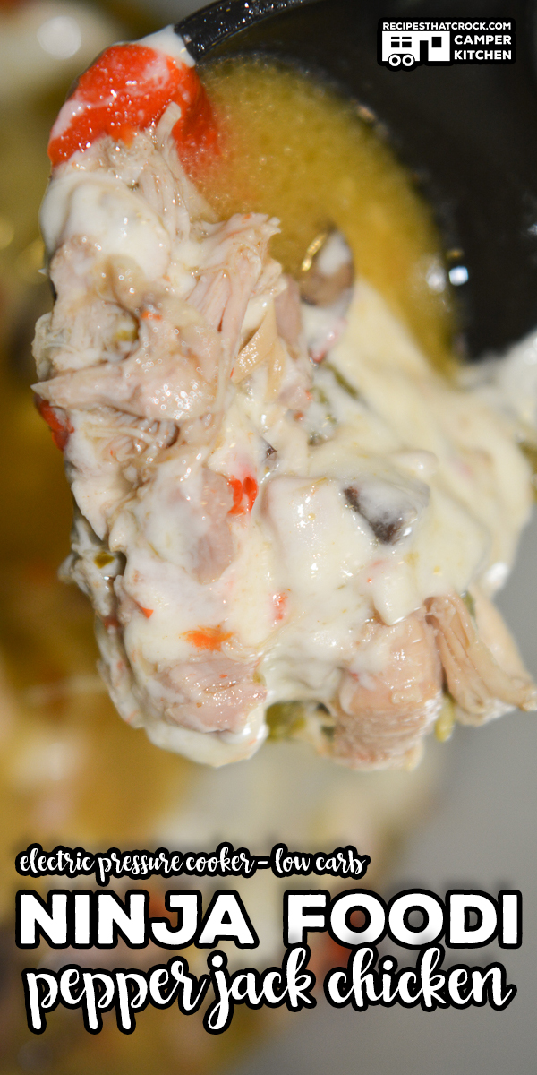 Our Ninja Foodi Pepper Jack Chicken (Electric Pressure Cooker - Low Carb) is a long time reader favorite. Tender chicken, flavorful veggies and spicy pepper jack cheese make this one pot meal a regular on our meal rotation. via @recipescrock