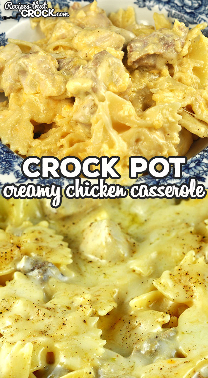 "This Creamy Crock Pot Chicken Casserole recipe is absolutely delicious and sure to make your ""go to"" recipe list instantly! It is so yummy! via @recipescrock"