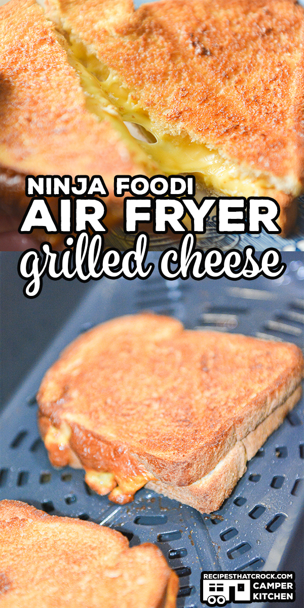 This recipe for Air Fryer Grilled Cheese is a super easy Ninja Foodi or traditional Air Fryer recipe that makes a perfectly toasted outside and melted cheesy inside. Low carb options too! via @recipescrock