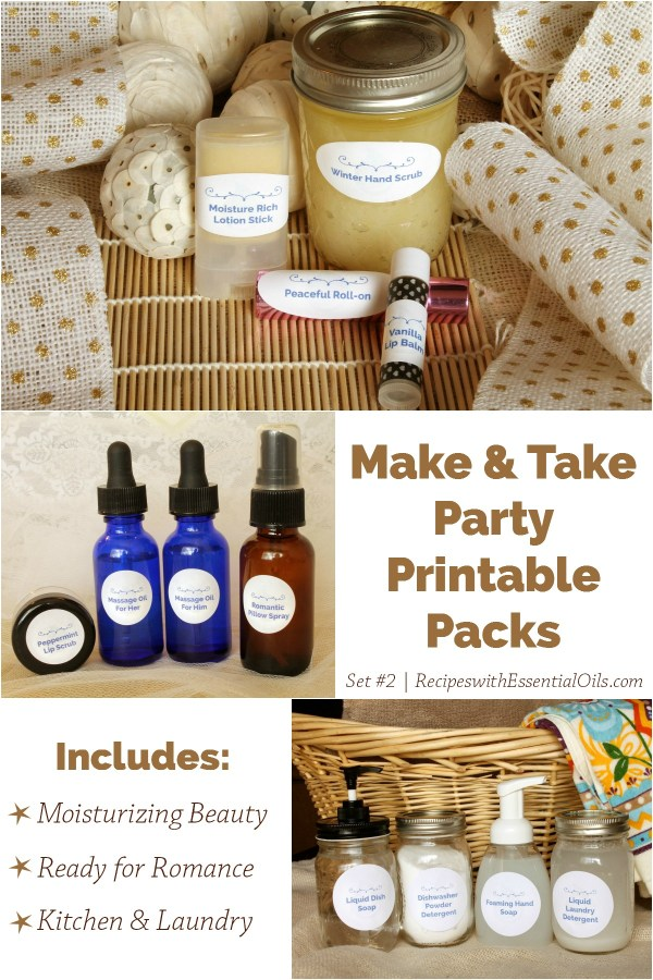 Essential Oil Make & Take Party Printable Packs: Easy as 1 ...