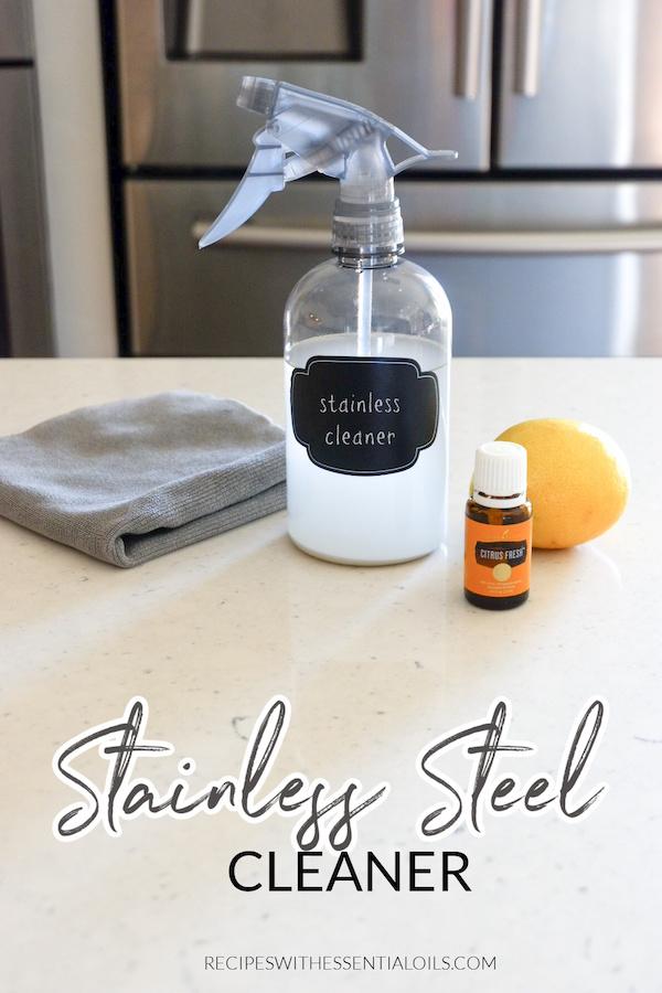DIY stainless steel cleaner recipe