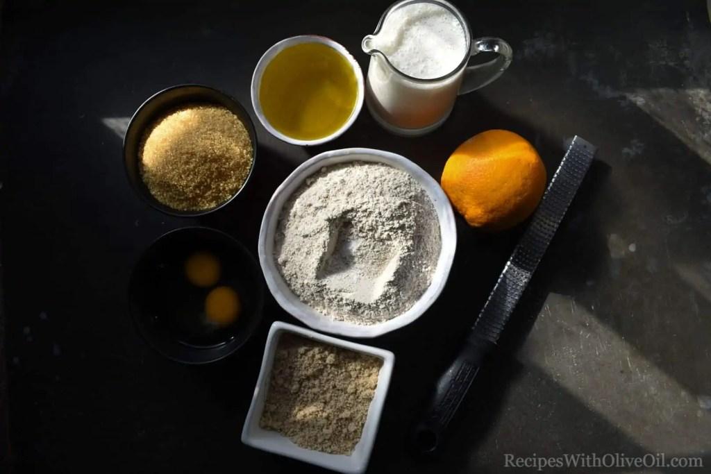 ingredients orange olive oil cake