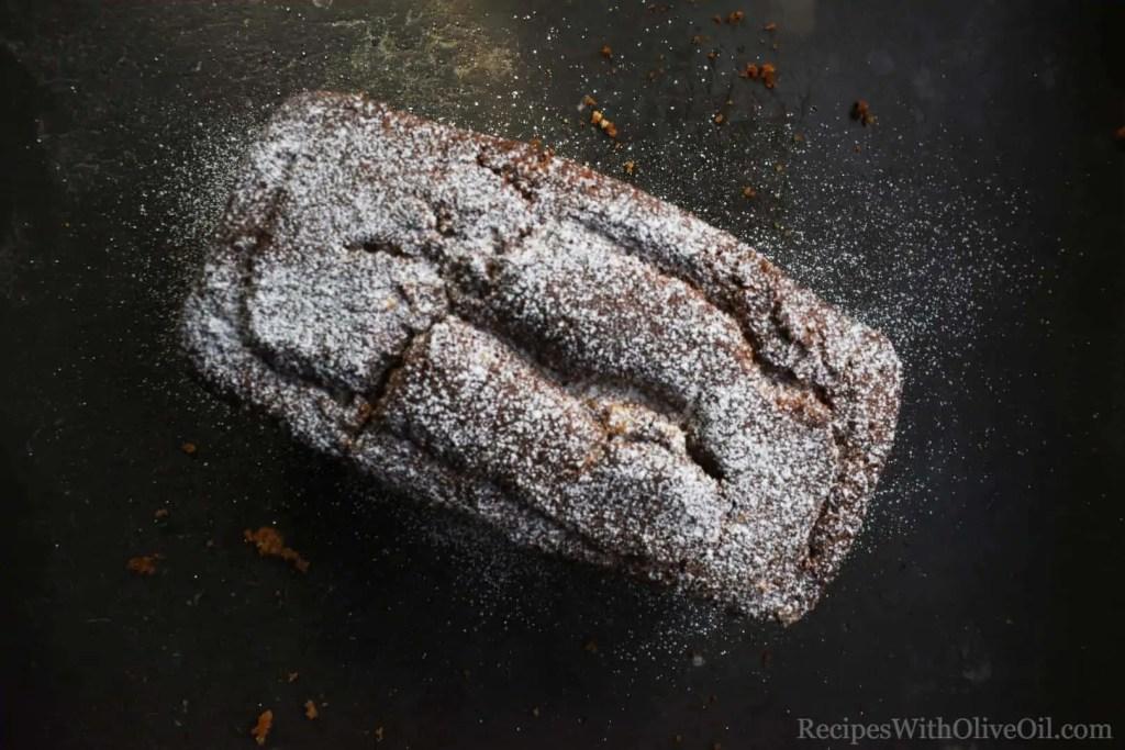 olive oil cake powdered sugar