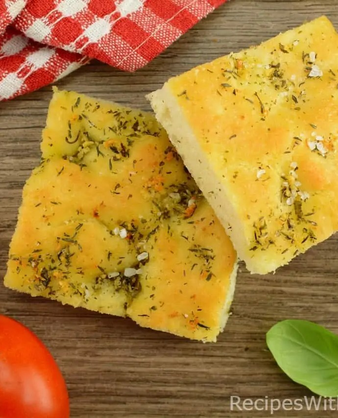Soft and Crusty Focaccia with Olive Oil