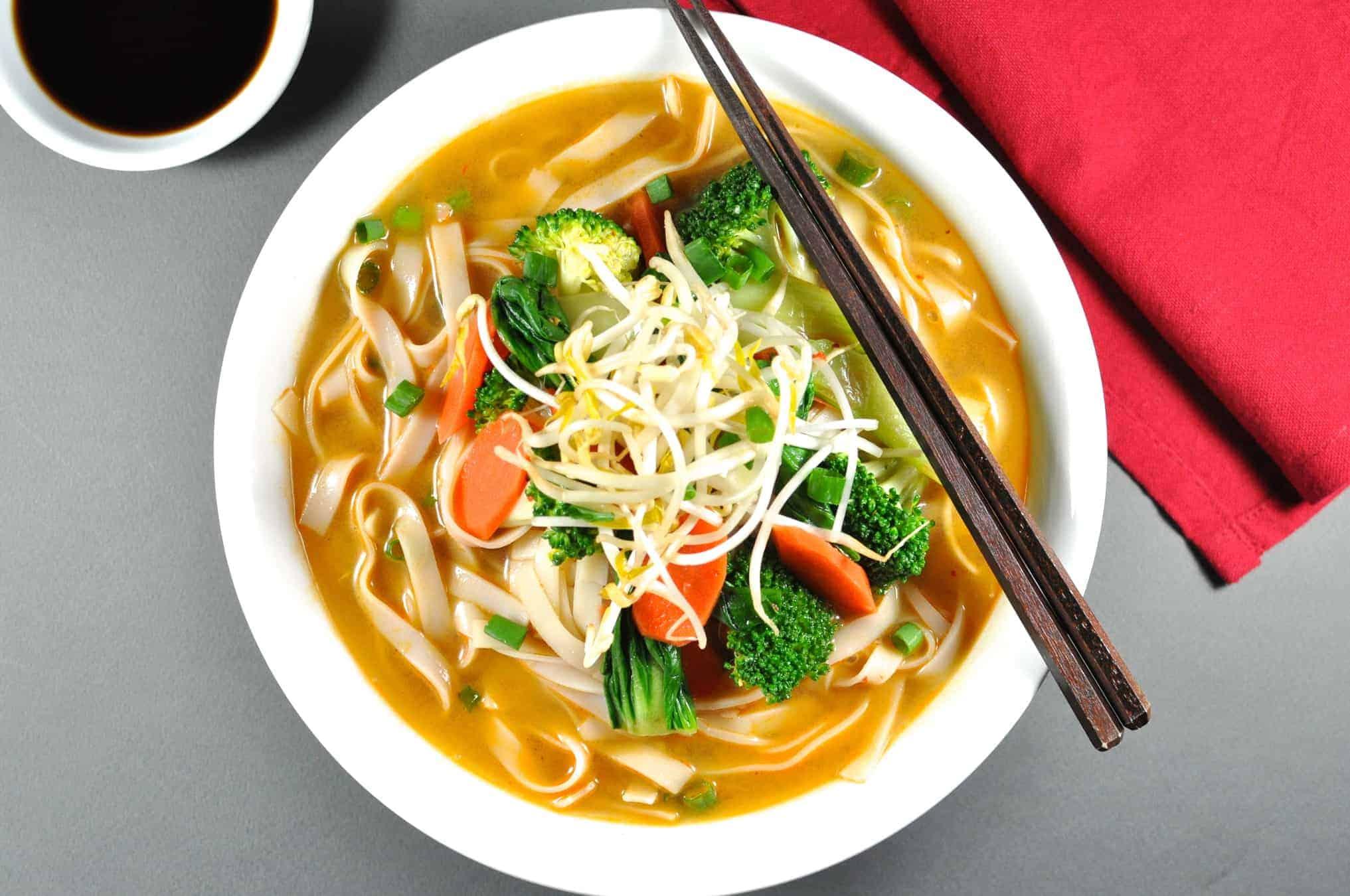 Clear Noodle Soup Vegetarian