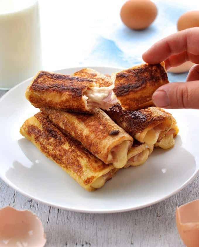 Ham and Cheese Fresh Toast Roll Up 3