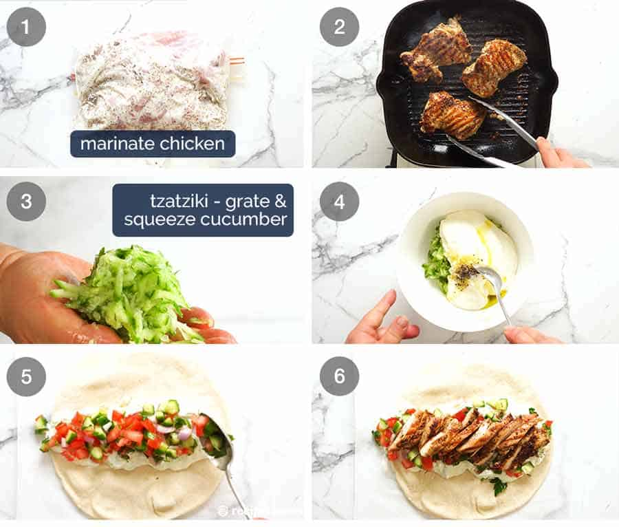 How to make Greek Chicken Gryos
