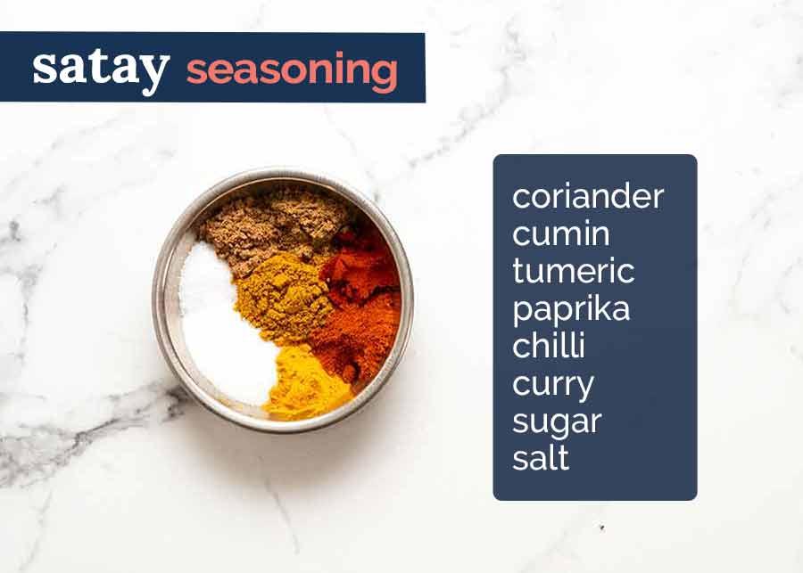 Satay Seasoning ingredients